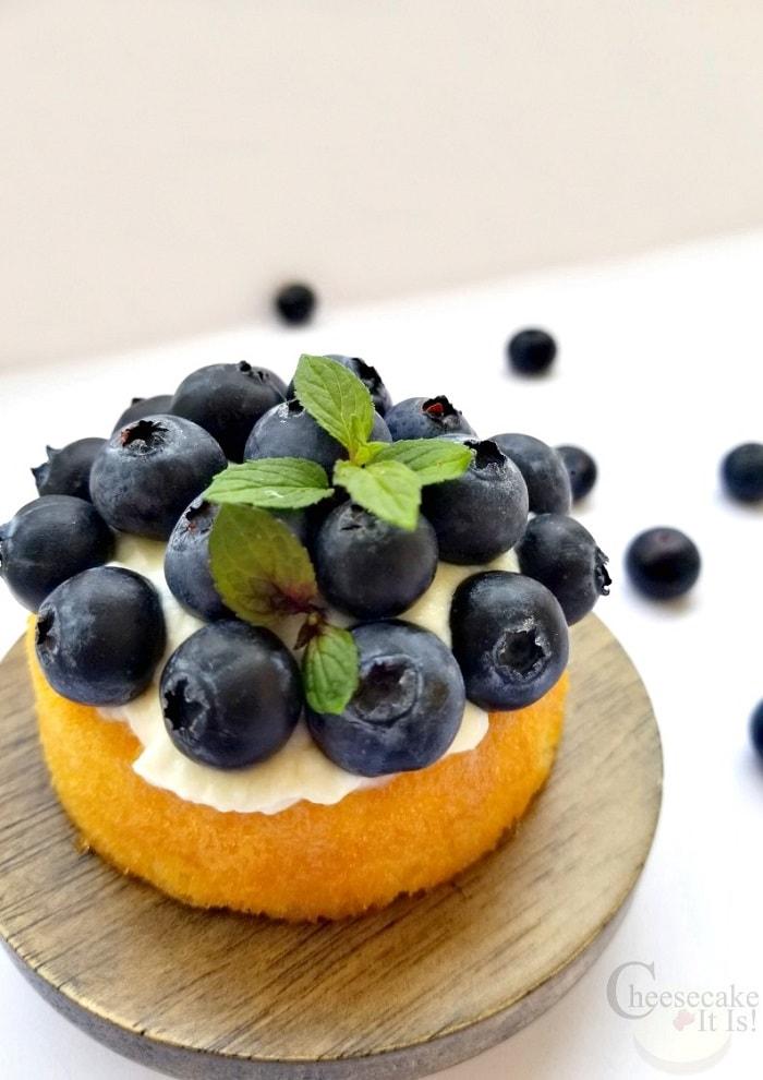 Single Blueberry Shortcake Cheesecake