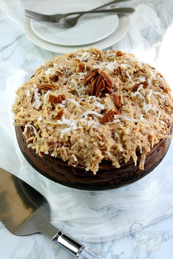 Whole German Chocolate Cheesecake