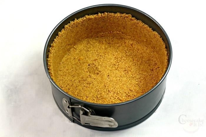 Springform pan with cheesecake crust