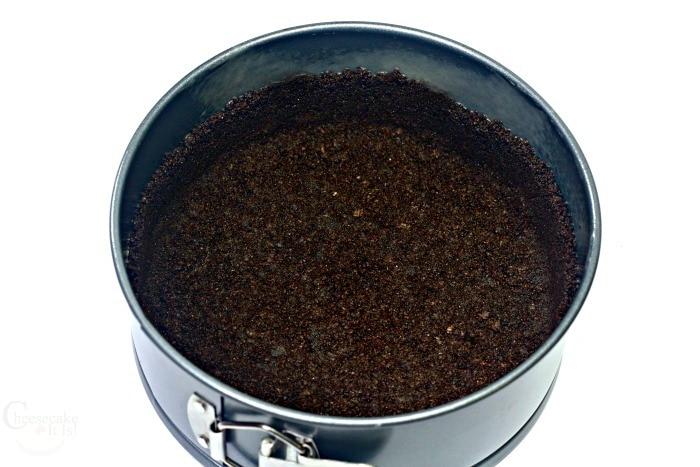 Oreo Crust in pan
