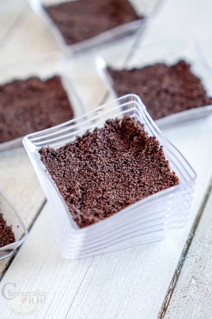 Cookie crust in dishes