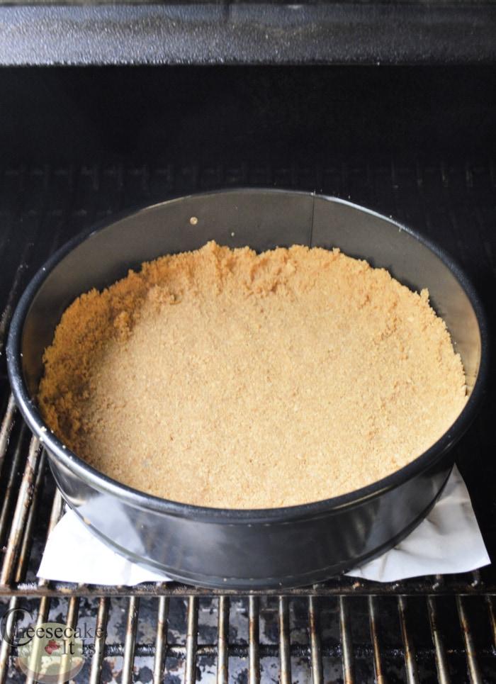 crust in pan on smoker